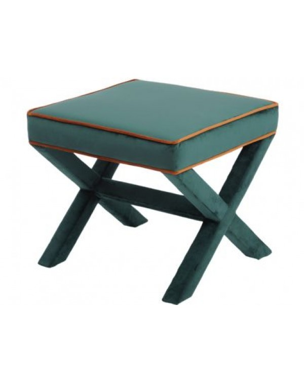 ellison green And Orange Cross Frame Stool
